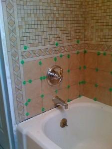 New bathroom tile
