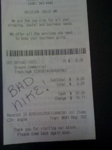 Bad Nike!